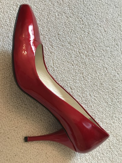 Bettye Muller ruby red patent Pumps