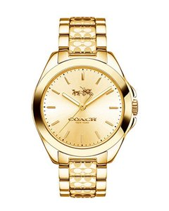 Coach Plated Stainless Signature Bracelet Tristen 14502178 Womens Watch