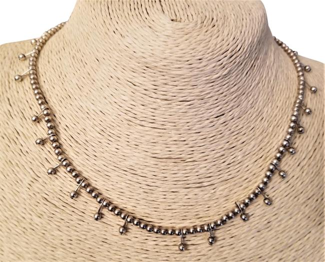 Silver Sterling Beeded Choker Necklace Silver Sterling Beeded Choker Necklace Image 1