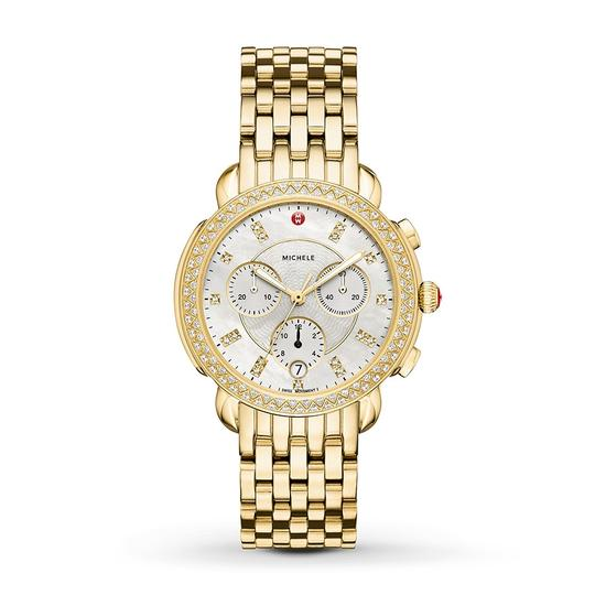 Preload https://img-static.tradesy.com/item/23392014/michele-18k-gold-plated-stainless-bracelet-mother-of-pearl-diamond-dial-sidney-mww30a000008-watch-0-0-540-540.jpg