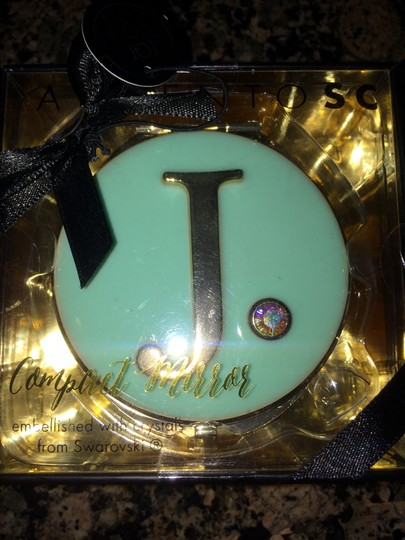 Unknown Monogram ' J' Special crystal Gift box Compact Cosmetic Mirror New
