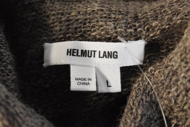 Helmut Lang short dress Taupe Brown Alpaca Sheer Mock Neck on Tradesy