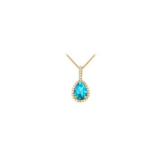 Preload https://img-static.tradesy.com/item/23392180/blue-yellow-gold-fancy-teardrop-topaz-and-cubic-zirconia-halo-pendant-in-14k-necklace-0-0-540-540.jpg