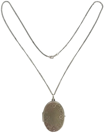 Preload https://img-static.tradesy.com/item/23392200/silver-sterling-hinged-locket-and-chain-21-long-chain-necklace-0-1-540-540.jpg
