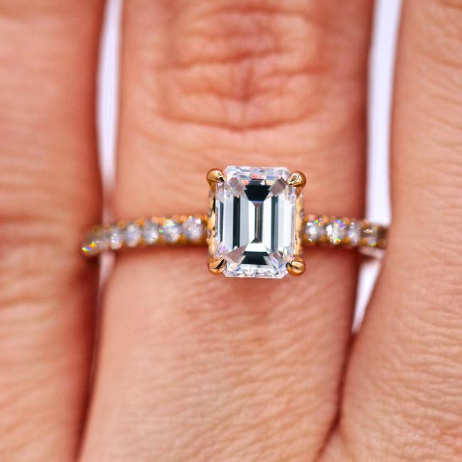 Diana M Egl Certified 1.05 Carat Emerald Cut Diamond Engagement Ring Diana M Egl Certified 1.05 Carat Emerald Cut Diamond Engagement Ring Image 1