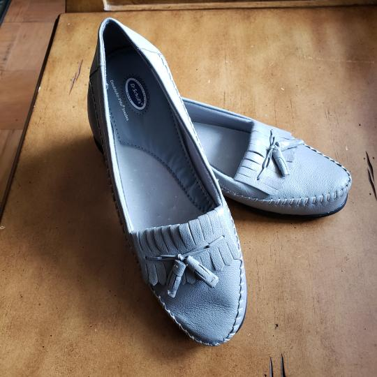 Dr. Scholl's Faux Leather Tassels Gray Flats