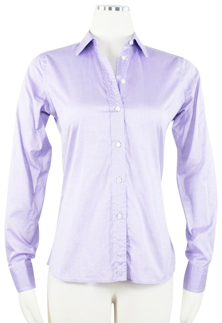 Preload https://img-static.tradesy.com/item/23392279/purple-fitted-darted-career-blouse-shirt-lilac-bespoke-button-down-top-size-4-s-0-2-650-650.jpg