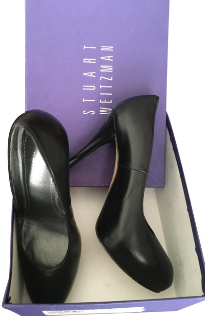 Stuart Weitzman Black Leather Detail Platform Pumps Size US 6 Regular (M, B) Stuart Weitzman Black Leather Detail Platform Pumps Size US 6 Regular (M, B) Image 1