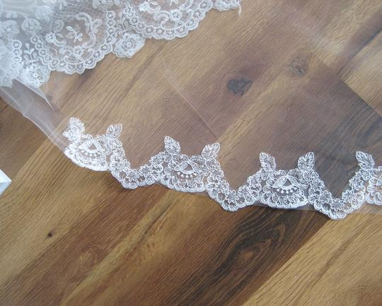 Off White Long 4m Cathedral Lace - Chris Bridal Veil