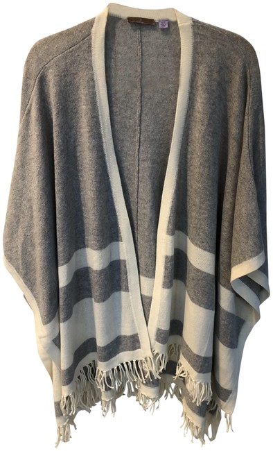 Preload https://img-static.tradesy.com/item/23392412/cullen-gray-and-cream-cashmere-ponchocape-size-os-one-size-0-2-650-650.jpg