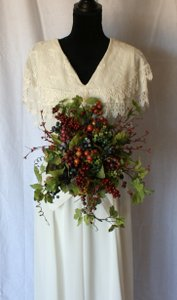 Wild Berry Silk Wedding Bouquet