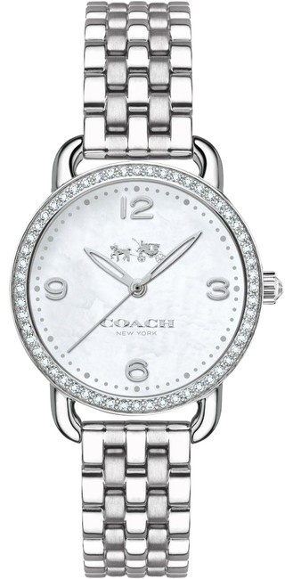 Item - Silver Delancey Stainless Mother Of Pearl Crystal 14502477 Watch