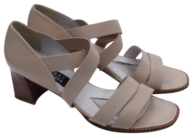 Stuart Weitzman Off White/Cream Criss Cross Open Sandals Size US 8.5 Regular (M, B) Stuart Weitzman Off White/Cream Criss Cross Open Sandals Size US 8.5 Regular (M, B) Image 1