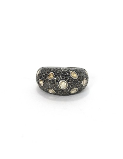 Preload https://img-static.tradesy.com/item/23392479/black-sterling-with-and-rose-cut-diamonds-75-ring-0-0-540-540.jpg
