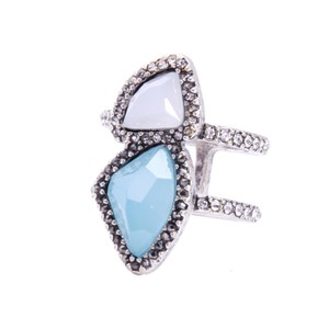 Private Collection Silver Ice Stone Ring
