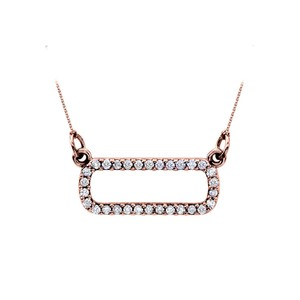 Marco B Gorgeous Diamond Pendant in 14K Rose Gold Unique Jewelry Set At Best A