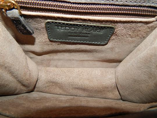 Teddy Blake Suede Bamboo Purse Satchel in Gray