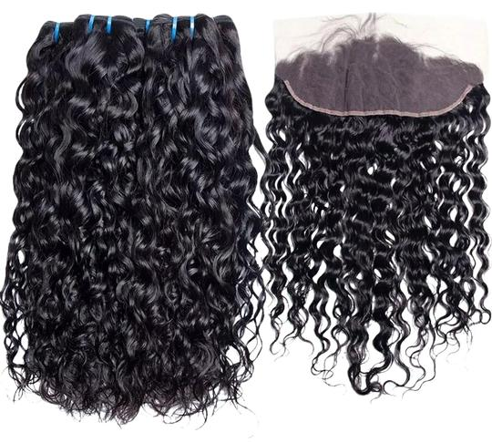 Preload https://img-static.tradesy.com/item/23392545/natural-3-bundles-water-wave-pre-plucked-lace-frontal-closure-hair-accessory-0-2-540-540.jpg