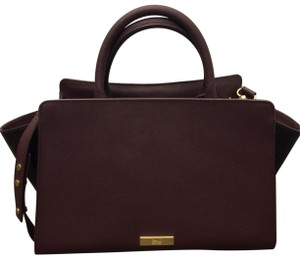 ZAC Zac Posen Eartha Shoulder Satchel in Eggplant