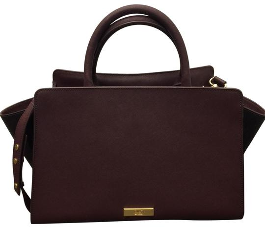 Preload https://img-static.tradesy.com/item/23392563/zac-zac-posen-eartha-eggplant-leather-satchel-0-1-540-540.jpg
