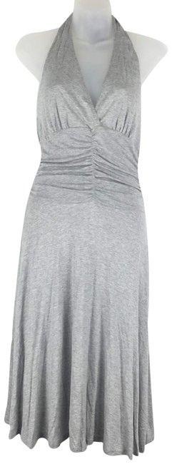 Gray Maxi Dress by White House | Black Market Whbm Midi Jersey Halter