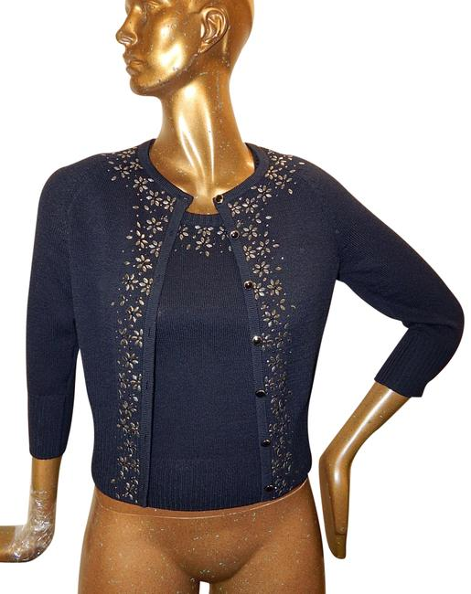 Preload https://img-static.tradesy.com/item/23392604/st-john-black-santana-knit-studded-2pc-twinset-cardigan-shell-button-down-top-size-petite-2-xs-0-1-650-650.jpg