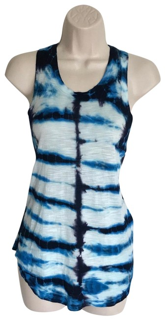 Preload https://img-static.tradesy.com/item/23392674/young-fabulous-and-broke-blue-tie-dye-racerback-tank-topcami-size-2-xs-0-1-650-650.jpg