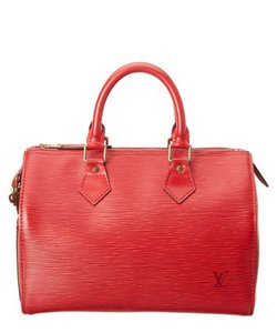 Louis Vuitton Speedy 30 Monogram Box Tote in Red