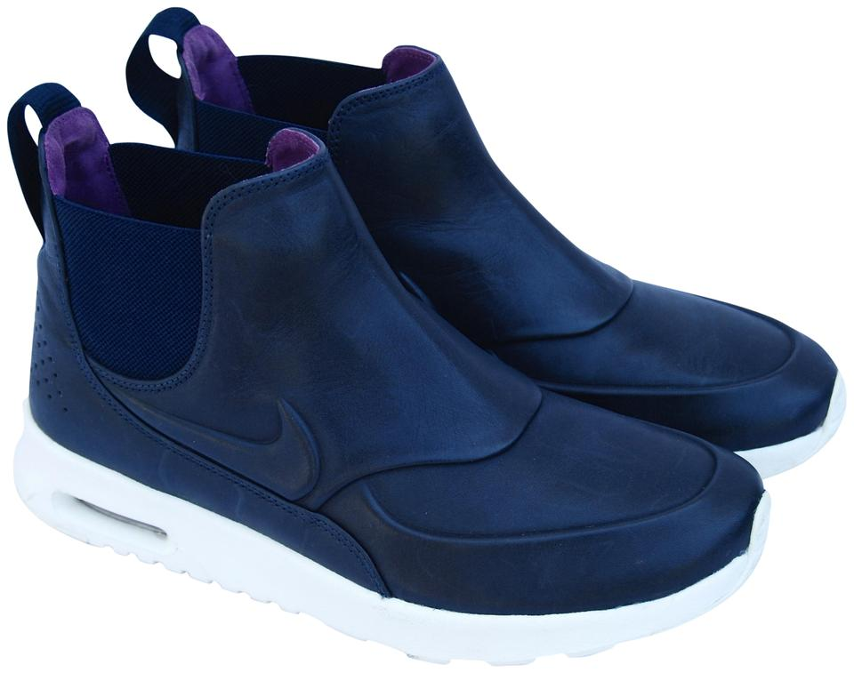 finest selection 87d6b eb06d Nike Navy Women s Air Max Thea Mid Obsidian 859550-400 Sneakers