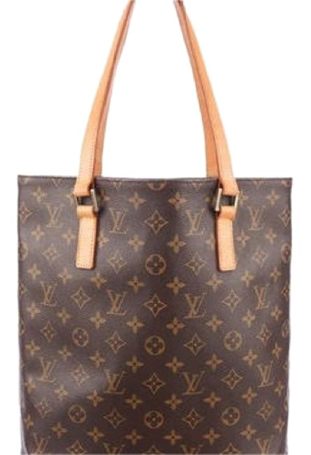 Louis Vuitton Vavin Monogram with Sr1001 Brown Coated Canvas Vachetta Leather Tote Louis Vuitton Vavin Monogram with Sr1001 Brown Coated Canvas Vachetta Leather Tote Image 1