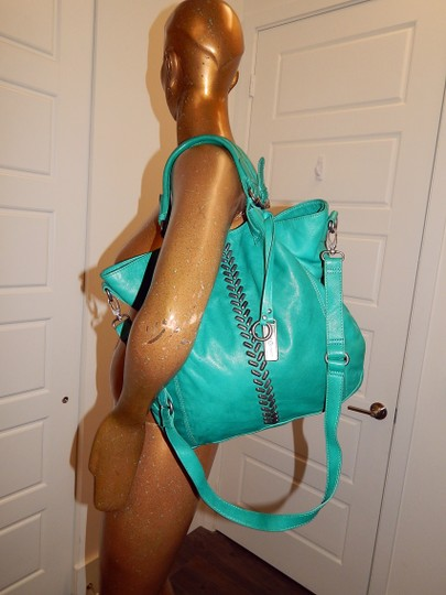 Lucky Brand Charlotte Crossbody Studded Tote in Teal