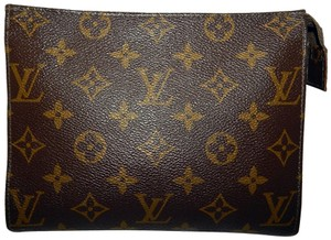 Louis Vuitton Monogram Vintage Cosmetic Brown Clutch