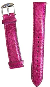 Michele Michele Pink Printed Leather Watch Band