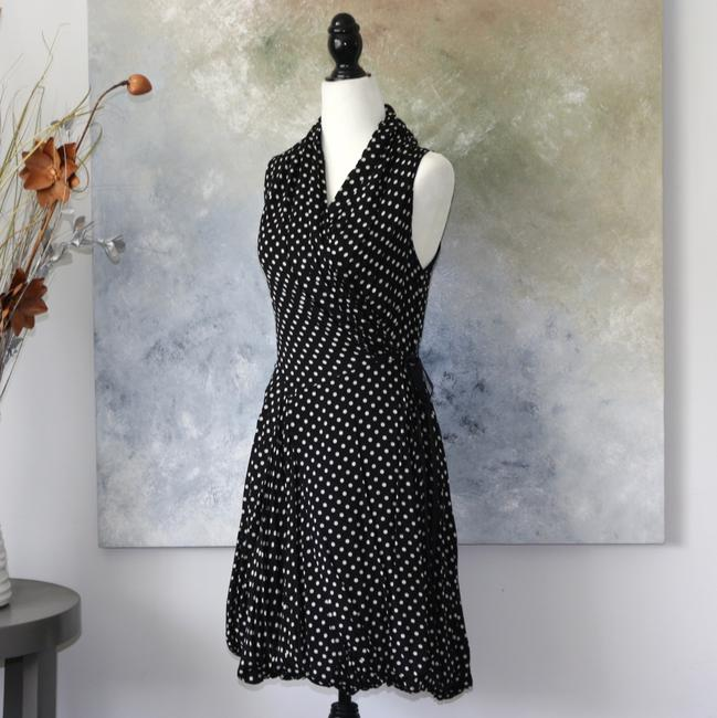 Aryn K short dress Black/White Polka Dot And Wrap Summer on Tradesy