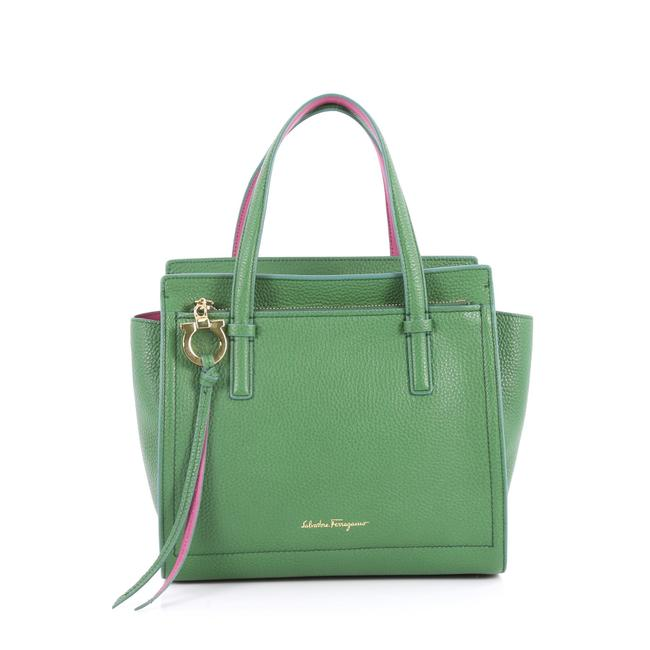 Item - Amy Pebbled Mini Green Leather Tote