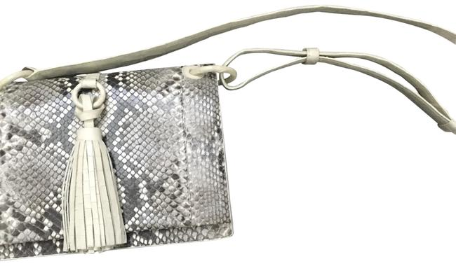 Nancy Gonzalez Cream Python Skin Leather Cross Body Bag Nancy Gonzalez Cream Python Skin Leather Cross Body Bag Image 1