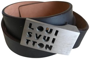 Louis Vuitton Perforated Statement Buckle Belt