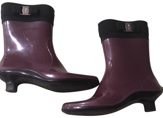 Item - Purple Vara Ribbon Rain Italy Boots/Booties Size US 7 Regular (M, B)