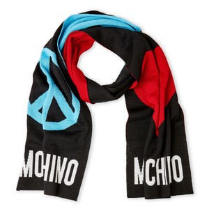 Moschino Love And Peace Knit Scarf