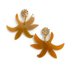 Marni Lucite and Crystal Earrings