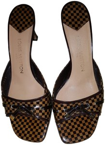 Louis Vuitton brown and gold Sandals