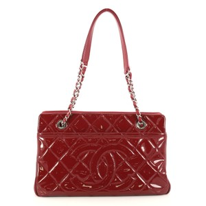 Chanel Timeless Tote in dark red