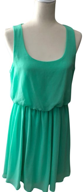 Preload https://img-static.tradesy.com/item/23393745/lush-mint-green-sleeveless-chiffon-short-casual-dress-size-12-l-0-1-650-650.jpg