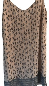 Eight Sixty short dress tan with blue pattern on Tradesy