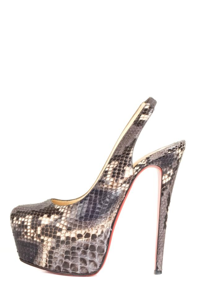 sports shoes 5ffe9 03ede Christian Louboutin Grey Snakeskin Daffodile Heels Pumps Size EU 38  (Approx. US 8) Regular (M, B) 41% off retail