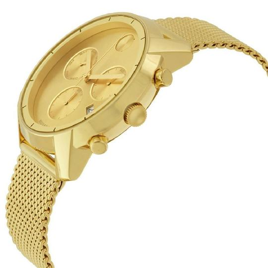 Movado Gold Tone Chronograph Champagne Dial Men's Watch Image 1