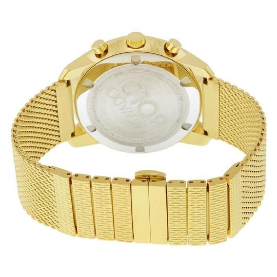 Movado Gold Tone Chronograph Champagne Dial Men's Watch Image 2