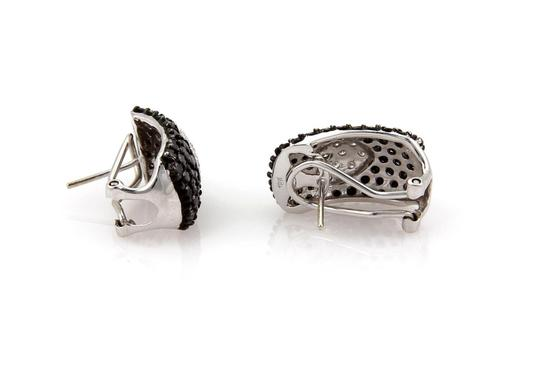 Other 4.56 Carats Black &White Diamond 18k Gold Heart Style Earrings Image 2