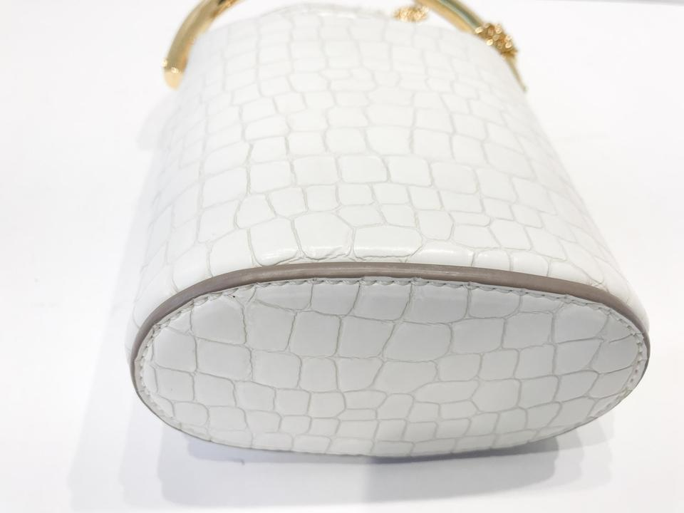 White Cross Body Shoulder Croc Alter Bag Stella McCartney Bucket Leather q8w0PnXfW