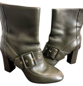 Moschino Leather Green Boots